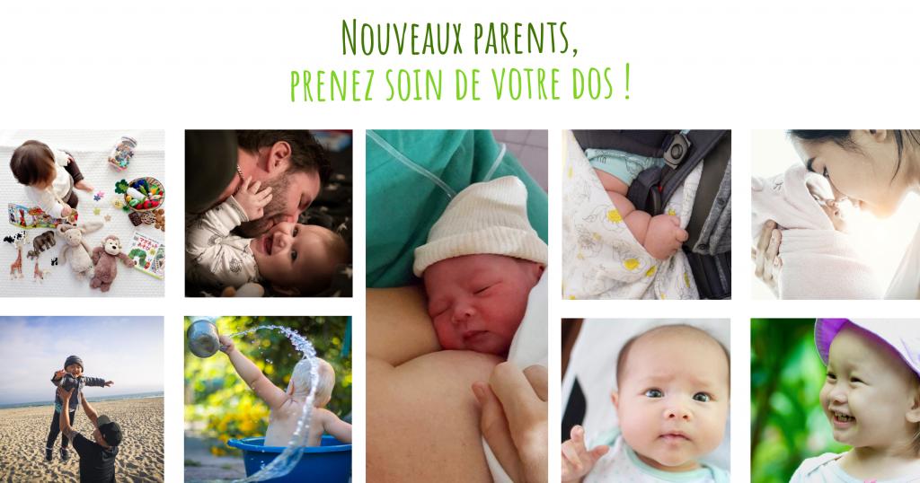 Le dos des jeunes parents souffre à l'arrivée du bébé.